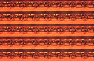Two-dimensional 'crystal' created with an image of musical instruments on the stage repeated along the horizontal and vertical directions. (Copyrighted CAZ).