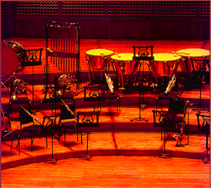 Fig. 3. An image of a set of musical instruments on the stage making the 'asymmetric unit' of the 2-D crystal of Fig. 2.