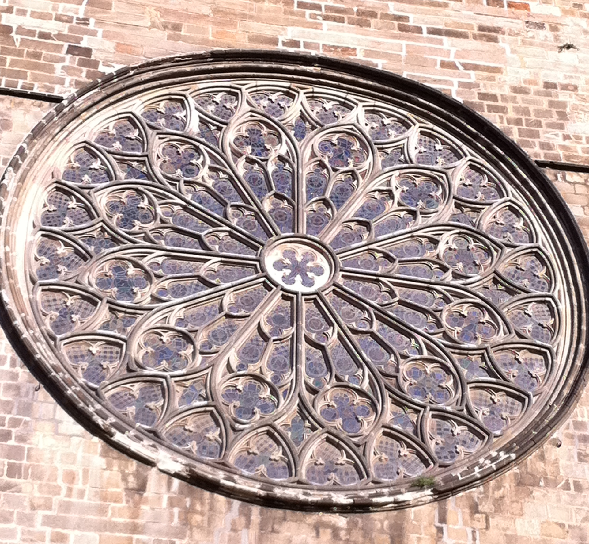 Gothic Rose Window In The Temple Of Santa Maria Del Pi Cita Vella